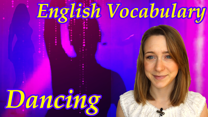 English Vocabulary Words for Dance